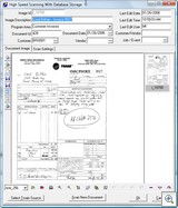 Document Imaging Entry Screen