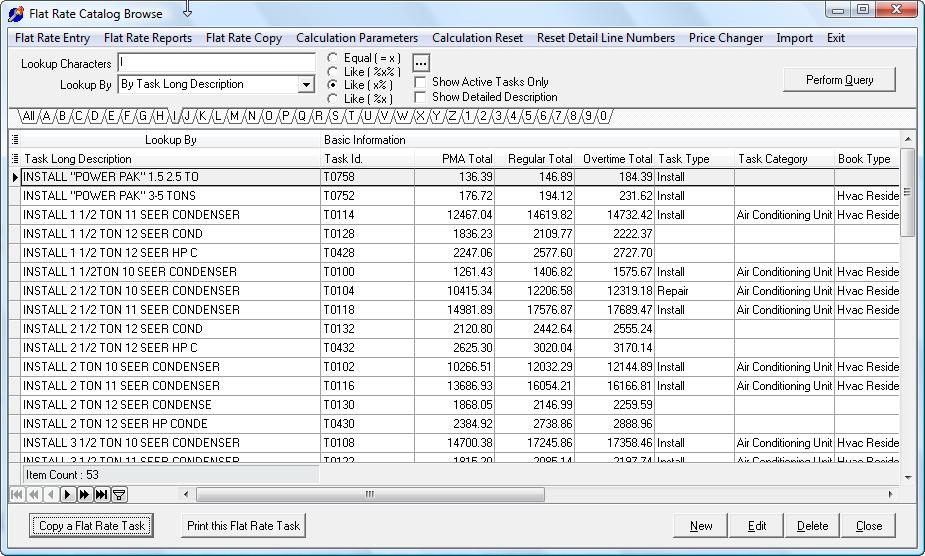 hvac flat rate pricing pdf