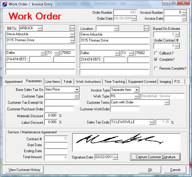 WorkOrder-02-Parameters